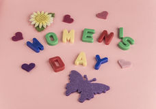 Women`s day greeting card Royalty Free Stock Photos