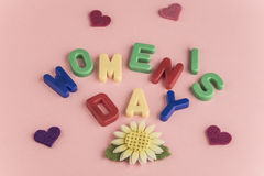 Women`s day greeting card Royalty Free Stock Photography