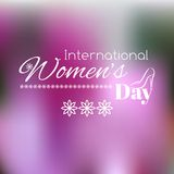 Women's Day greeting card. Vector blurred background Stock Photos