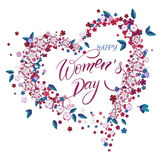 Women`s Day greeting card. Royalty Free Stock Photography