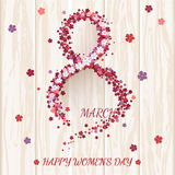 Women`s Day greeting card. Stock Images