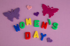 Women's day greeting Stock Photos