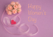 Women's day greeting stock photo