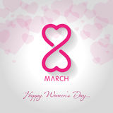 happy womens day greeting card vector illustration stock illustration