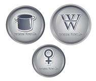 Women s Day icons5 Royalty Free Stock Photography