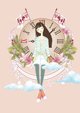 Women`s day illustration design Royalty Free Stock Images