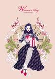 Women`s day illustration design Stock Photo