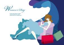 Women`s day illustration design. Women`s day illustration poster design royalty free illustration