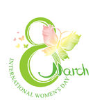 Women's Day. 8 March. International Women's Day design. 8 March Royalty Free Stock Photos