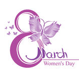 Women's Day. 8 March. 8 March - template Women's Day design Royalty Free Stock Images