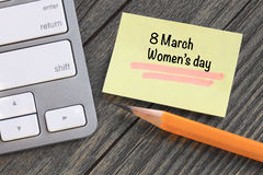Women's day message Stock Photo