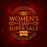 Women`s Day sale banner. Royalty Free Stock Photos