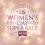 Women`s Day sale banner. Stock Photography