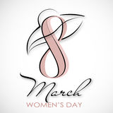 Women`s Day. Vector Greeting Card. The 8th of March Stock Image