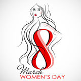 Women`s Day. Vector Greeting Card. The 8th of March Royalty Free Stock Photography