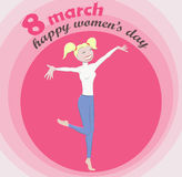 Women`s day vector illustration Royalty Free Stock Images