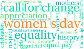 Women`s Day Word Cloud Royalty Free Stock Photos