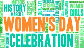 Women`s Day Word Cloud Stock Photography
