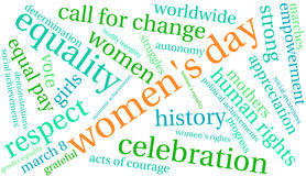 Women`s Day Word Cloud Royalty Free Stock Photo