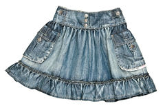 Women's denim skirt Royalty Free Stock Photo