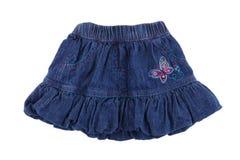 Women's denim skirt Royalty Free Stock Photo