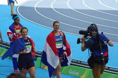 Women`s discus throw medalists at Rio2016 Olympics Royalty Free Stock Photos