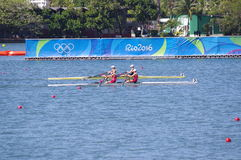 Women's double sculls rowing at Rio2016 Stock Image