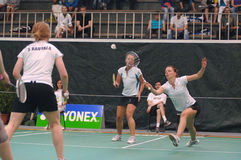 Women´s doubles badminton Royalty Free Stock Images