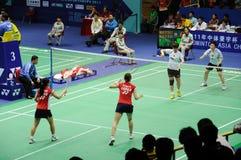 Women's Doubles,Badminton asia championships 2011 Royalty Free Stock Photo