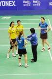 Women's Doubles,Badminton asia championships 2011 Stock Photo