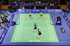 Women's Doubles,Badminton asia championships 2011 Stock Photo