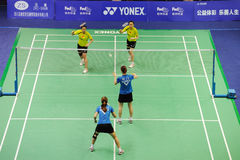 Women's Doubles,Badminton asia championships 2011 Royalty Free Stock Photos