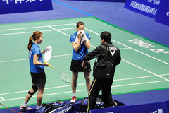 Women's Doubles,Badminton asia championships 2011 Royalty Free Stock Photo