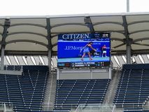 Grandstand Court Scoreboard - US Open Tennis Stock Photography