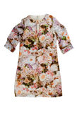 Women's dress with a floral pattern. Royalty Free Stock Image