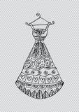 Women`s dress on a hanger. Stock Photos