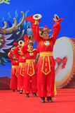 Women's drumming performances on the stage, china Stock Images