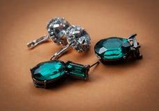 Women's earrings Royalty Free Stock Photo