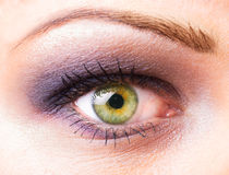 Women's eye macro Stock Images