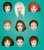 Women's faces Stock Photo