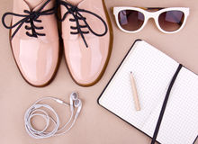 Women's fashion accessories and cosmetics Stock Image