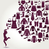 Women's fashion background. Stock Image
