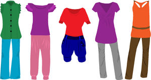 Women's fashion - clothes Royalty Free Stock Images