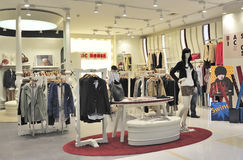 Women's fashion clothing store stock photo