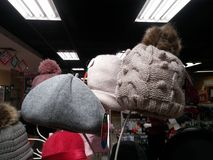 Women`s fashion hats, sold in supermarkets. In shenzhen, China Royalty Free Stock Images