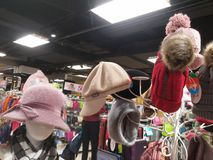 Women`s fashion hats, sold in supermarkets. In shenzhen, China Stock Photography