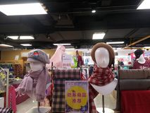 Women`s fashion hats, sold in supermarkets. In shenzhen, China Stock Images