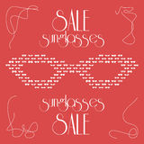 Women's fashion isolated sunglasses, vector Stock Images