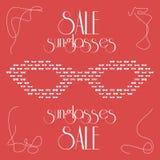 Women's fashion isolated sunglasses, vector Royalty Free Stock Photo
