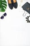 Women`s fashion set of accessories Stock Photos